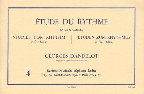 Etude du Rythme, Vol.4.Mesures simples