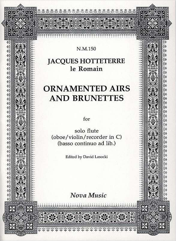 Ornamented Airs And Brunettes flute . Hotteterre