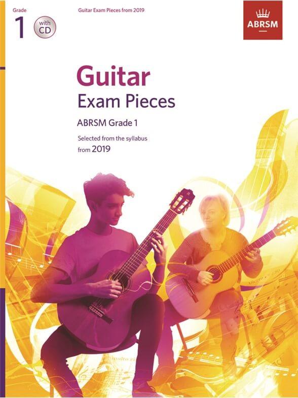 Guitar Exam Pieces 2016-2019, ABRSM Grade 1 +CD