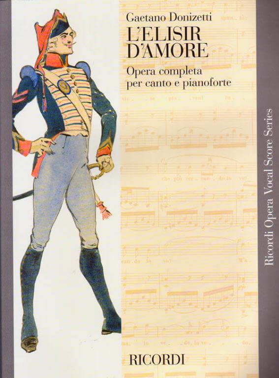 L'elisir d'amore Vocal Score Donizetti
