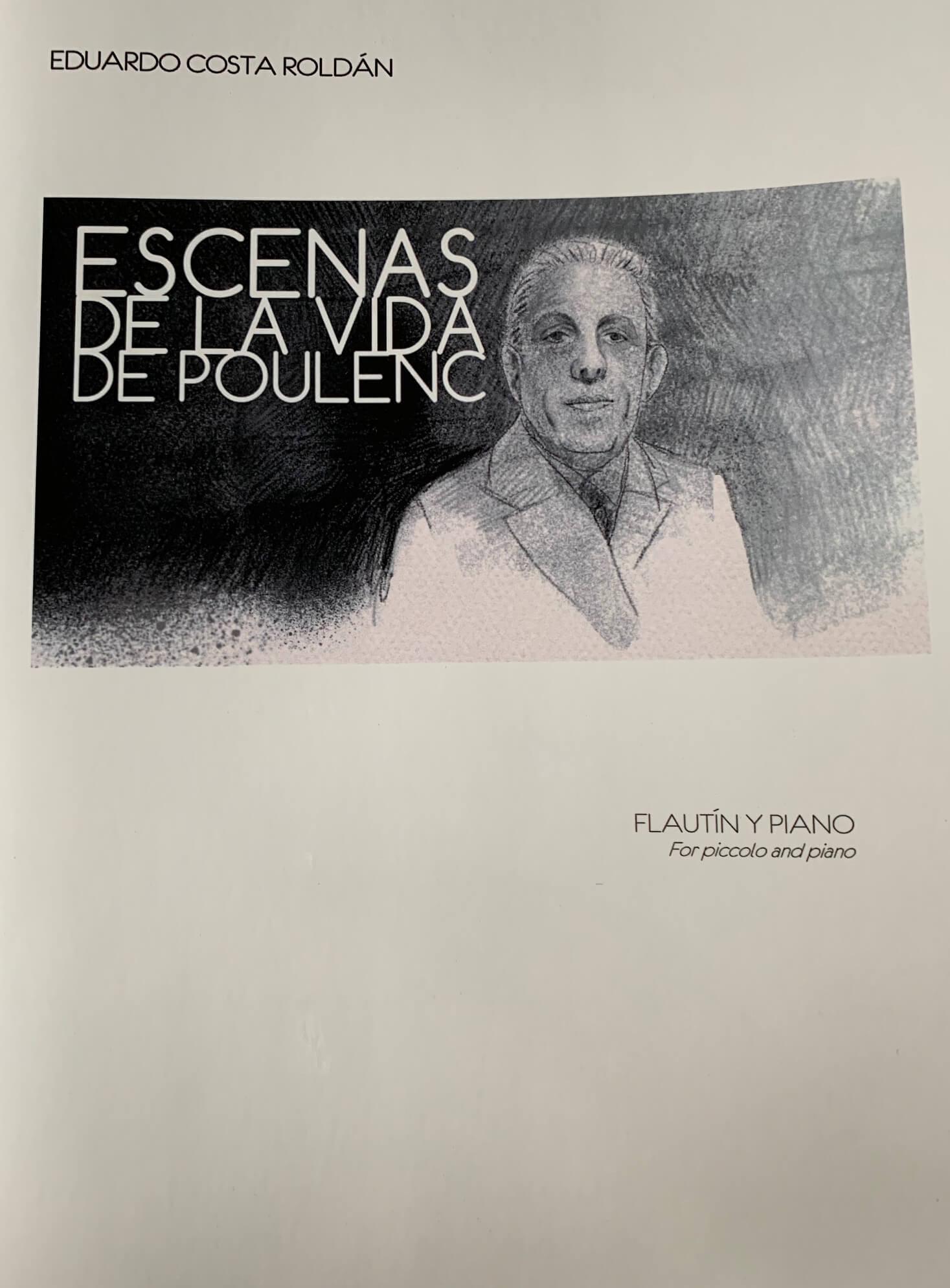 Escenas de la vida de Poulenc. Flautín y piano. Costa