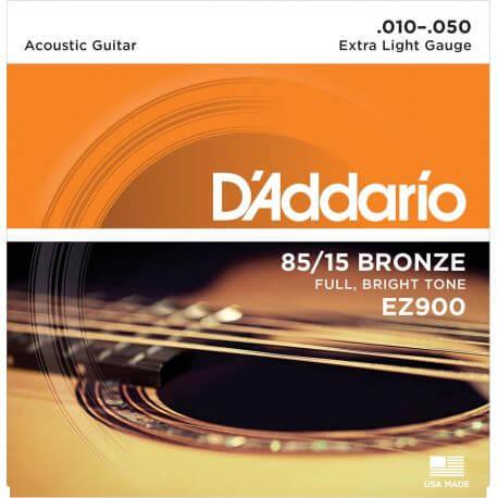 Jgo.Cuerdas Guitarra Acústica D'Addario EZ900 - 010-050