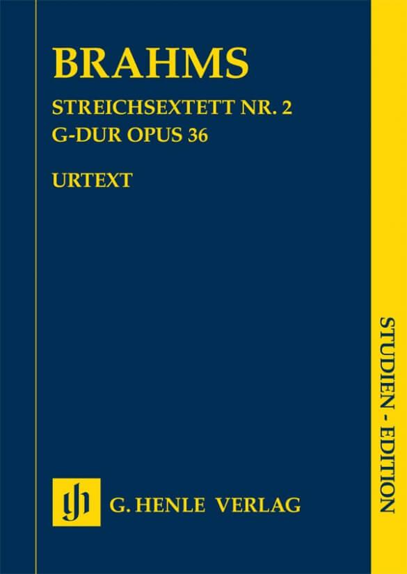String Sextet no.2 in G major Op.36 Brahms. Study Score