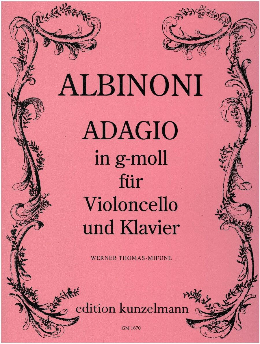 Adagio Sol menor Violoncello y piano . Albinoni