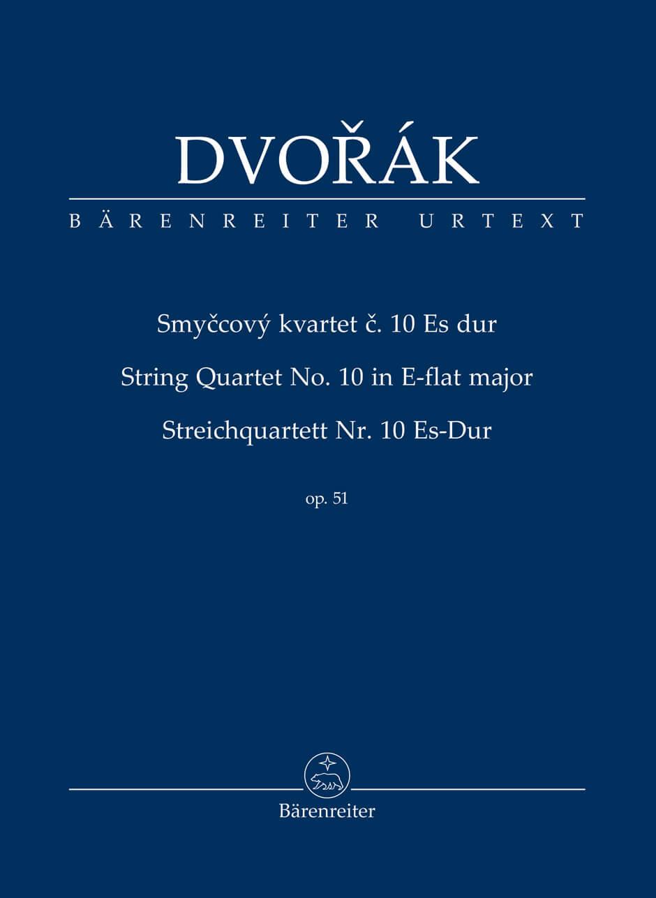 Streichquartett No. 10 Es-Dur op. 51. Dvorak Study score