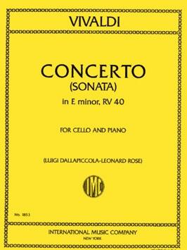 Sonata Nº5 E minor RV 40. Violoncello y piano . Vivaldi