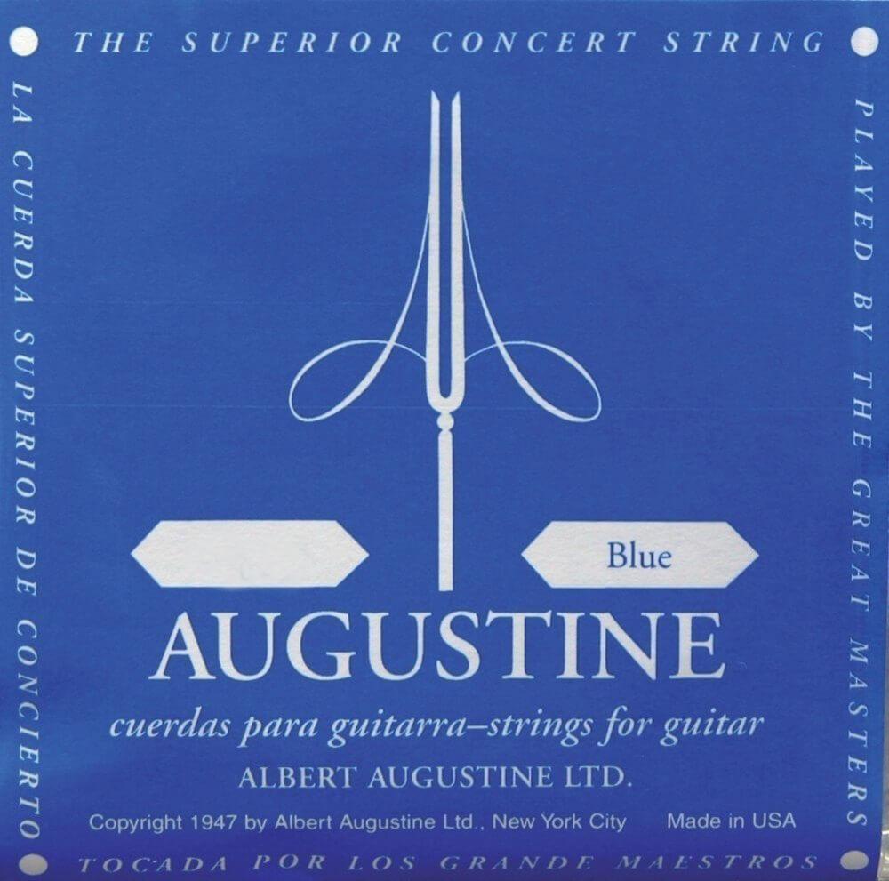 Juego de Cuerdas Guitarra Clásica Azul Augustine