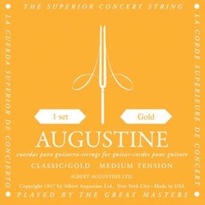 Juego de Cuerdas Guitarra Clásica Augustine Gold Light