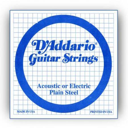 Cuerdas Guitarra Acústica o Eléctrica D'Addario Plain Steel