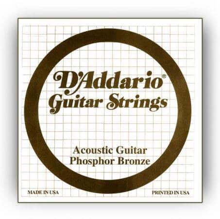 Cuerda Guitarra Acústica D'Addario Phosphor Bronze