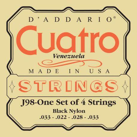 Juego de Cuerdas Cuatro Venezolano D'Addario Ej98