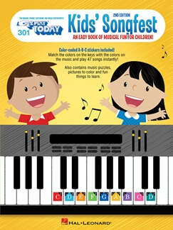 E-Z Play today 301:Kid's Songfest color coded- 2nd Edition