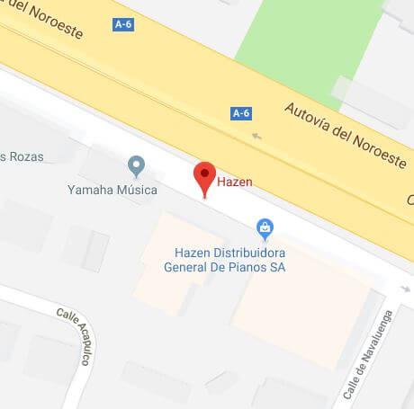 Mapa de la tienda HAZEN Madrid A-6