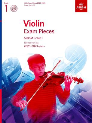 Violin Exam Pieces 2020-2023 ABRSM Grade 1, Score & Part +CD