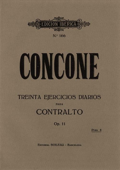 30 Ejercicios diarios para contralto Op.11