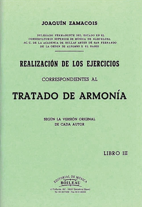 Realización ejercicios de Armonía Vol.II