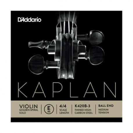 Cuerda 1ª Mi Violín D'Addario Kaplan Golden Spiral Solo K420B-3 4/4 Bola Medium