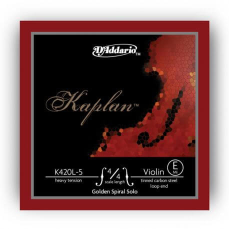 Cuerda 1ª Mi Violín D'Addario Kaplan Golden Spiral K420L-5 4/4 Fuerte Lazo