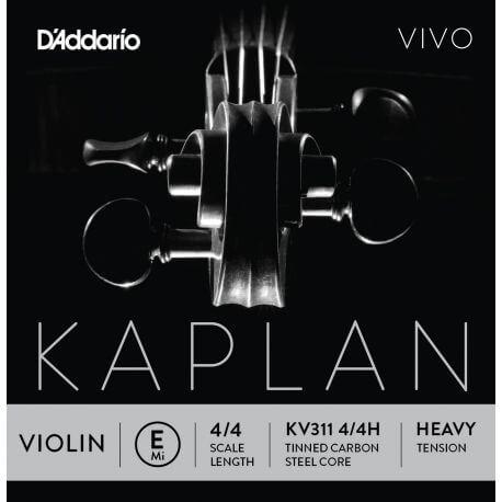 Cuerda 1ª Mi Violín D'Addario Kaplan Vivo Kv311 4/4 Fuerte