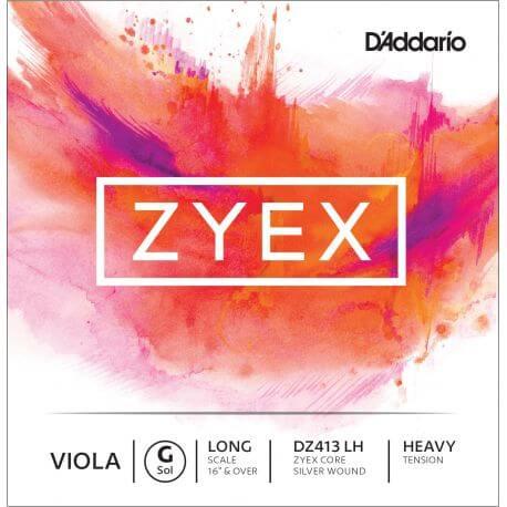 Cuerda 3ª Sol Viola D'Addario Zyex Dz413LH 4/4 Heavy