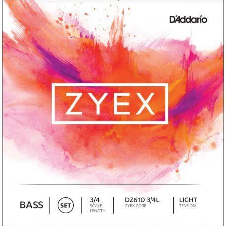 Juego de Cuerdas Contrabajo D'Addario Zyex DZ610 3/4 Light