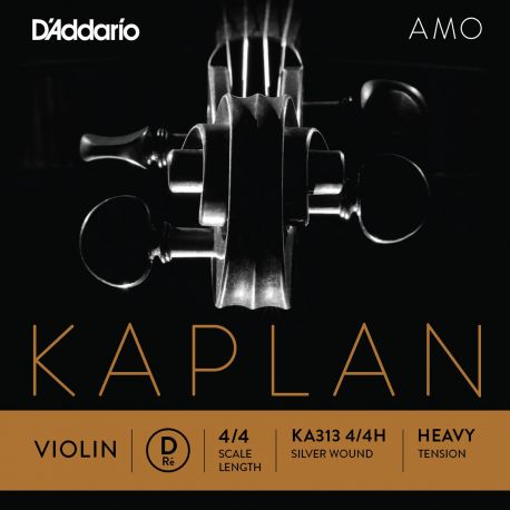Cuerda 3ª Re Violín D'Addario Kaplan Amo Ka313 Plata 4/4 Heavy