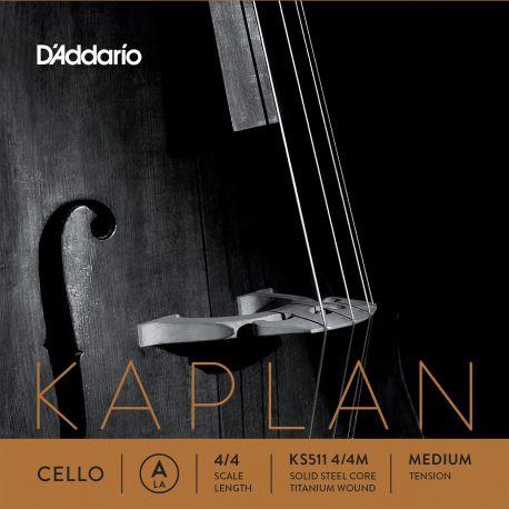 Cuerda 1ª La Violoncello D'Addario Kaplan Solutions KS511 4/4