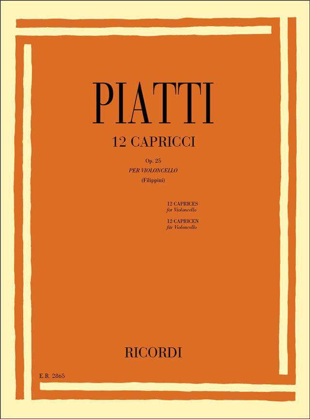 12 Capricci Op. 25 Violoncello. Piatti