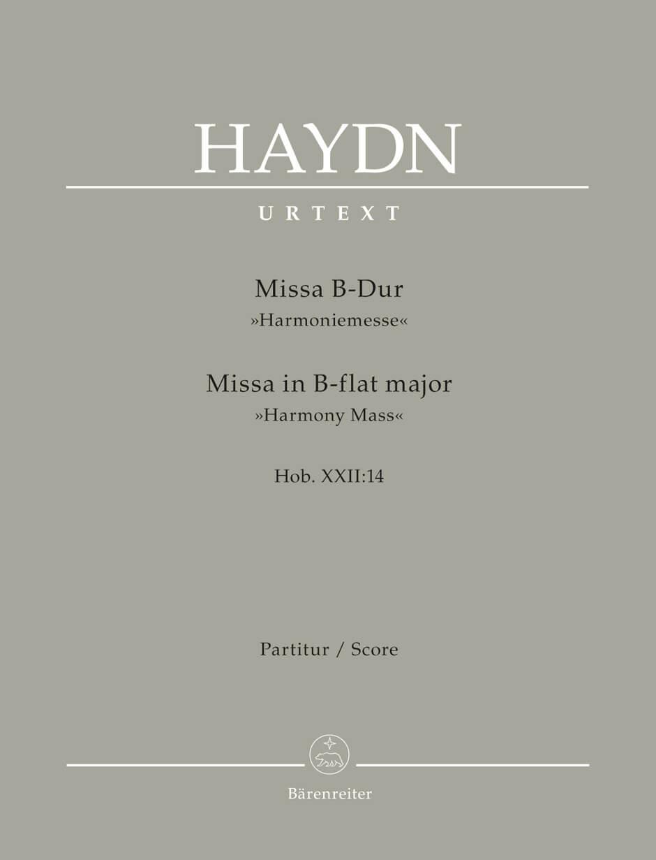 Missa B flat major Hob.XXII:14 'Harmony Mass'. Score