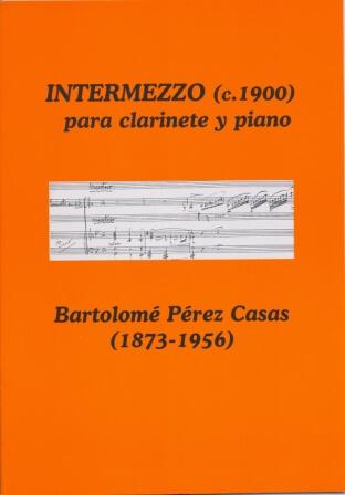 Intermezzo. Clarinete y piano. Bartolomé Pérez Casas