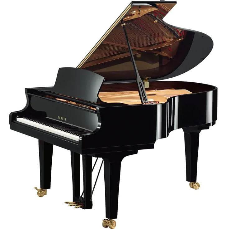 Piano De Cola Yamaha S3X SH2 186Cm Negro Pulido