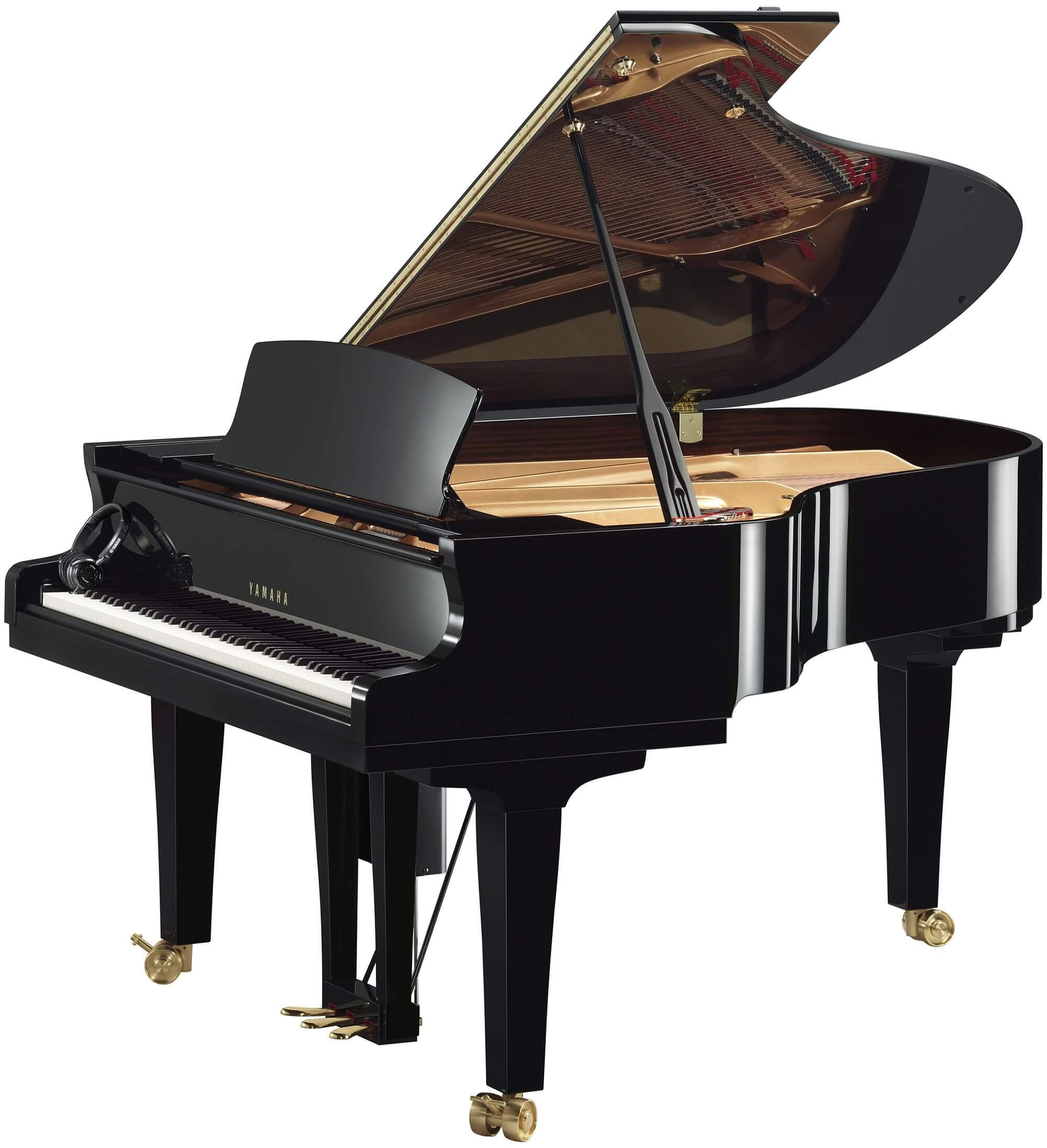 Piano de Cola Disklavier Yamaha S7X ENSPIRE PRO 227Cm Negro pulido