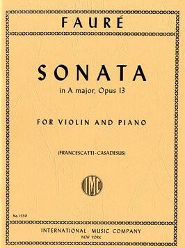 Sonata A Major. Violín y piano. Fauré