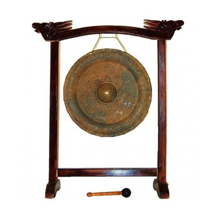 Gong+Soporte+Maza 40 Cm Etnian