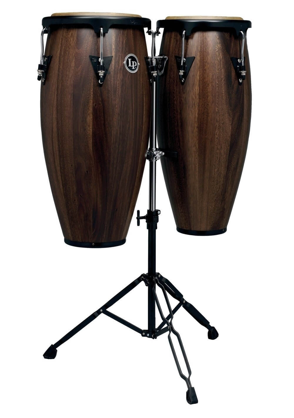 Set Congas Latin Percussion Lpa647 10-11 Walnut