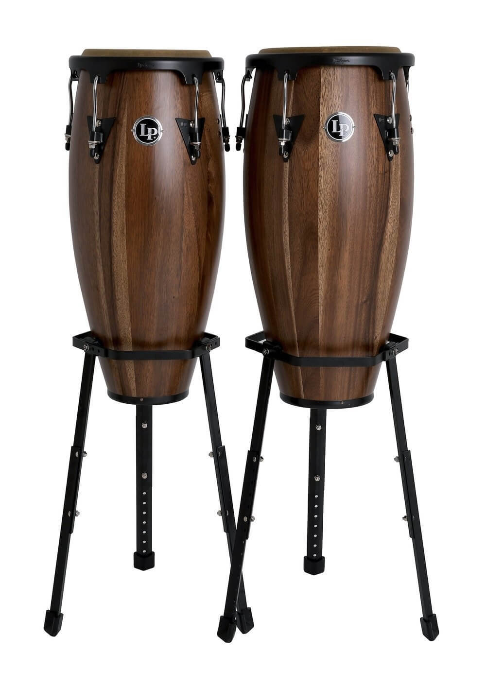 Set Congas Latin Percussion Lpa646B 10-11 Walnut