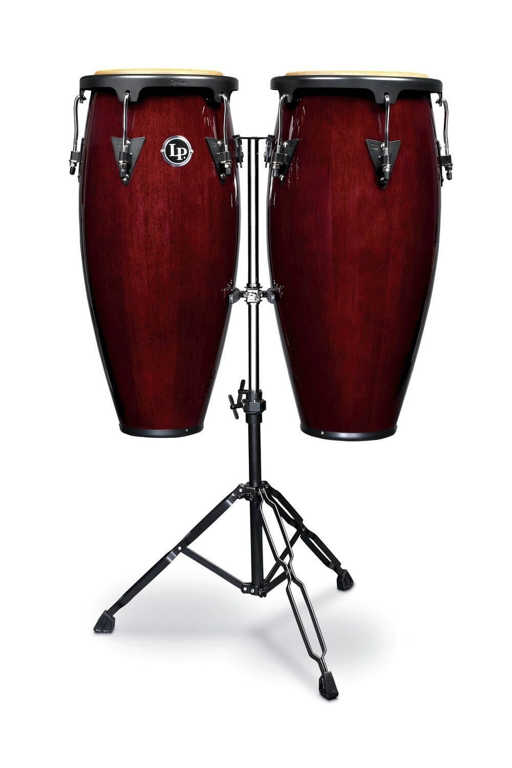 Set Congas Latin Percussion Lpa646 10-11 Dark Wood