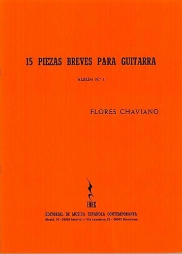 15 Piezas Breves para Guitarra .Chaviano