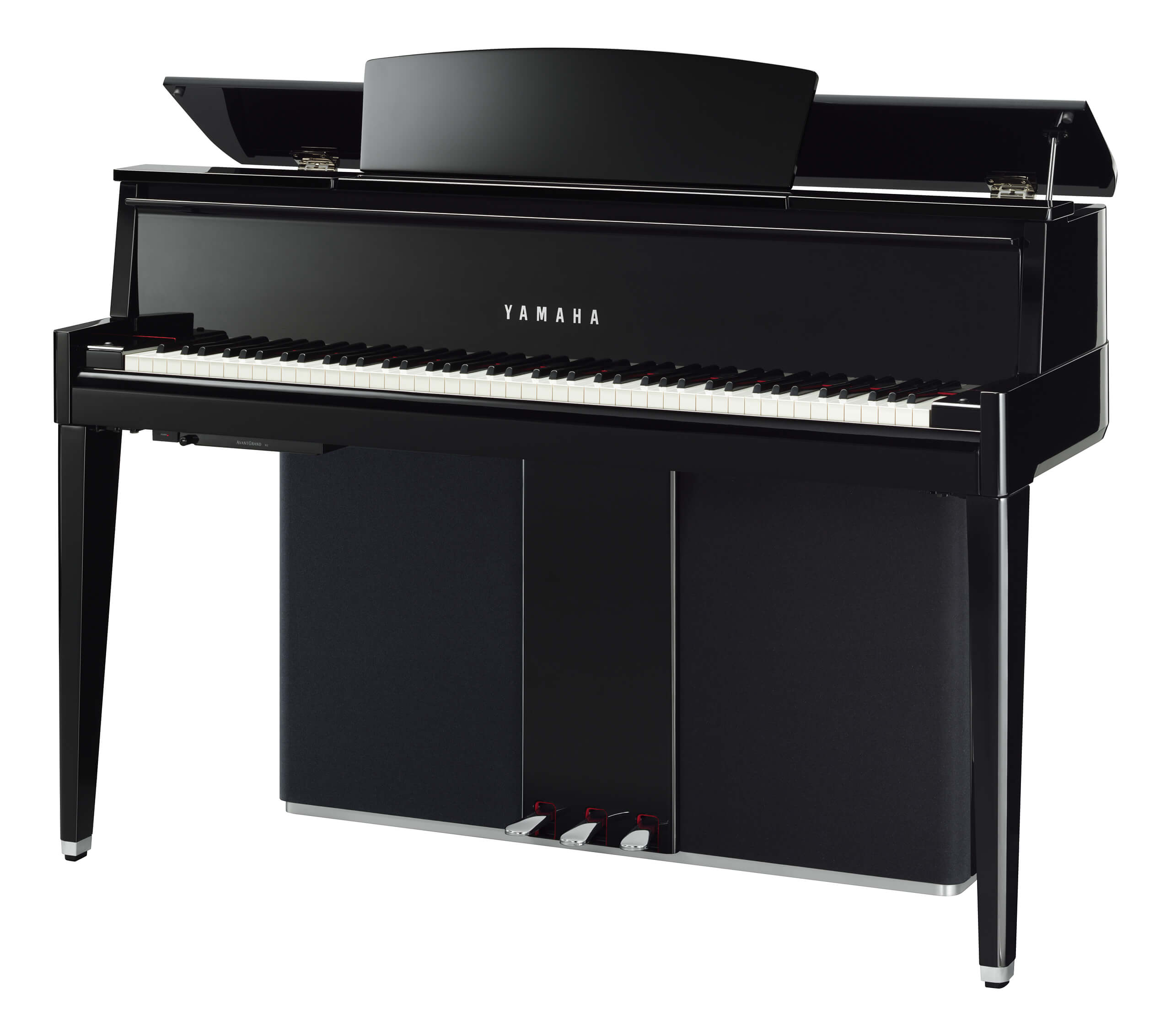 Piano Híbrido Yamaha N2 Negro Pulido