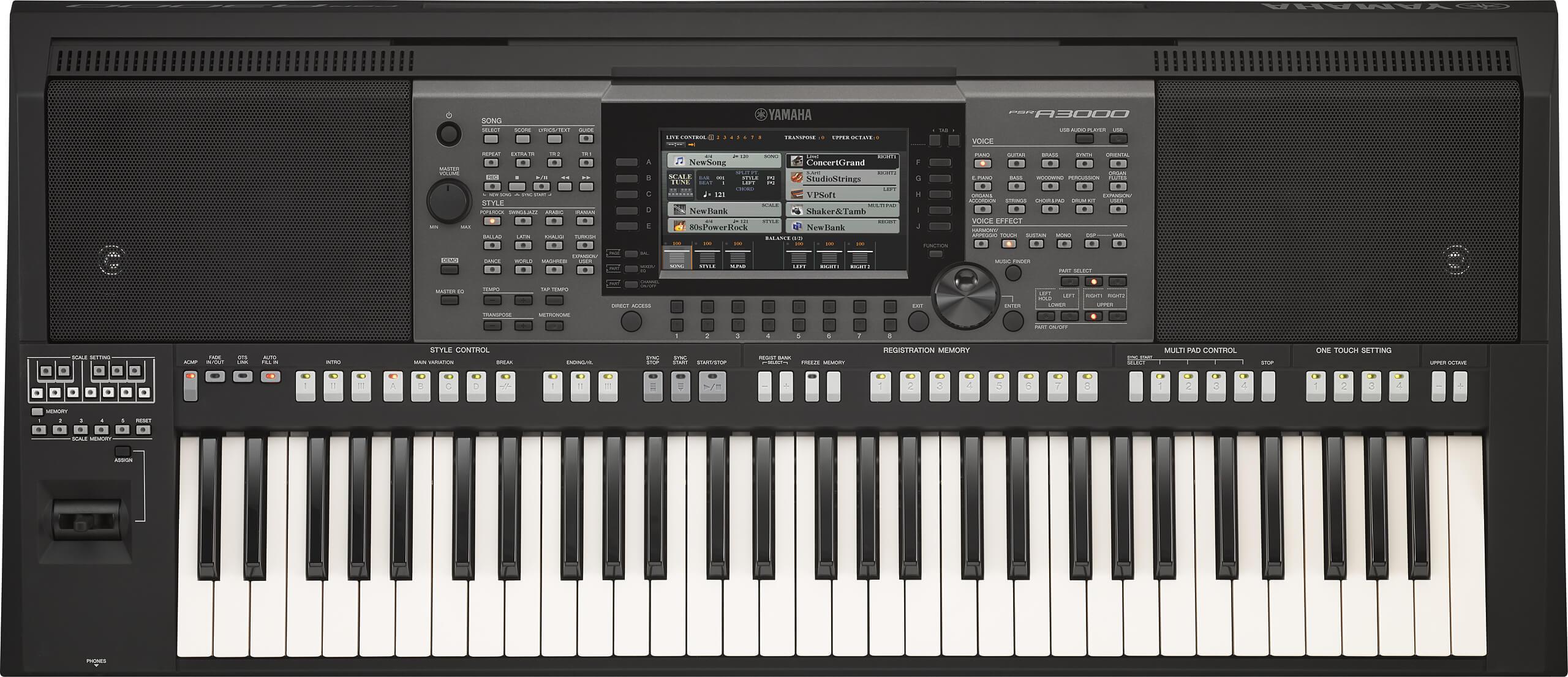 Teclado Semi-Profesional Yamaha PSR-A3000