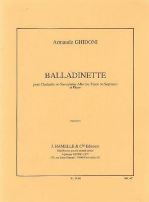 Balladinette Clarinet (in B), Piano .Ghidoni