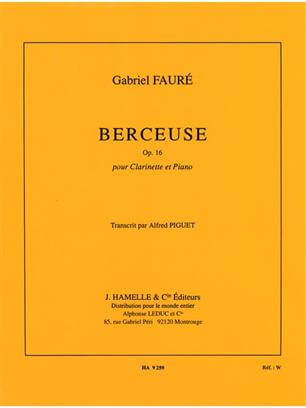 Berceuse Op.16 Clarinet and Piano .Faure