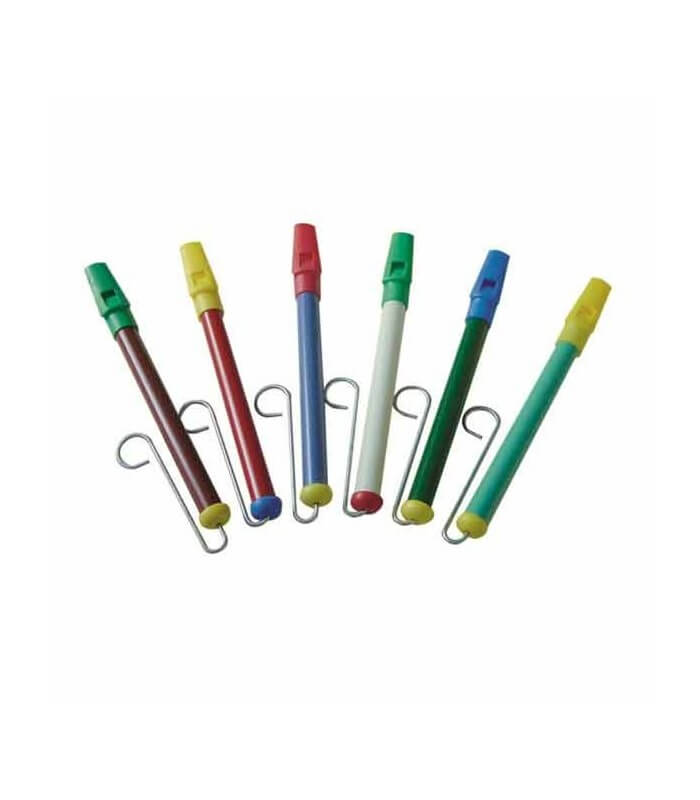 Flauta Embolo Plastico Colores vara metálica