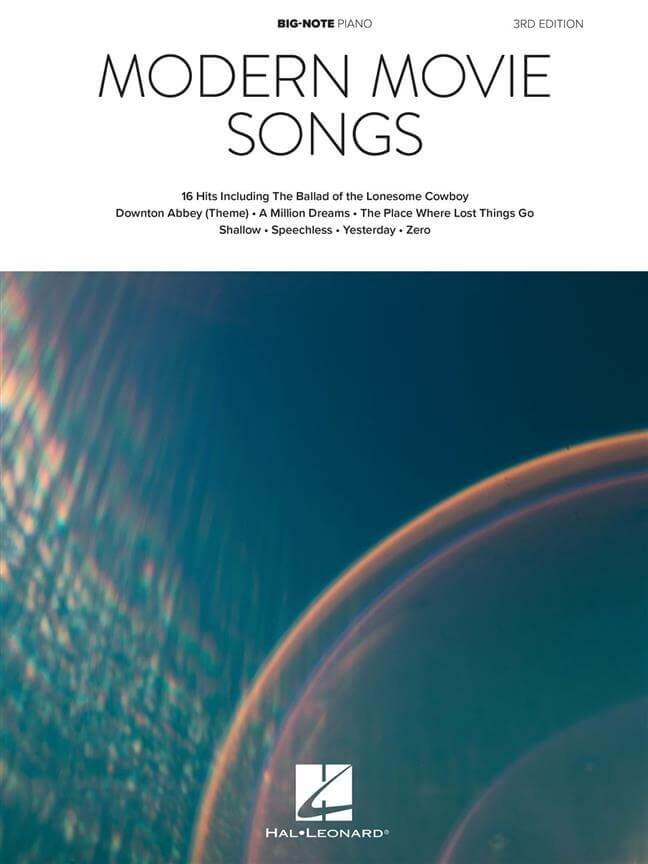 Modern Movie Songs - 3rd Edition.  Big Note Piano