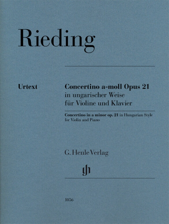 Concertino in Hungarian Style a minor op. 21. Violín y piano. Rieding