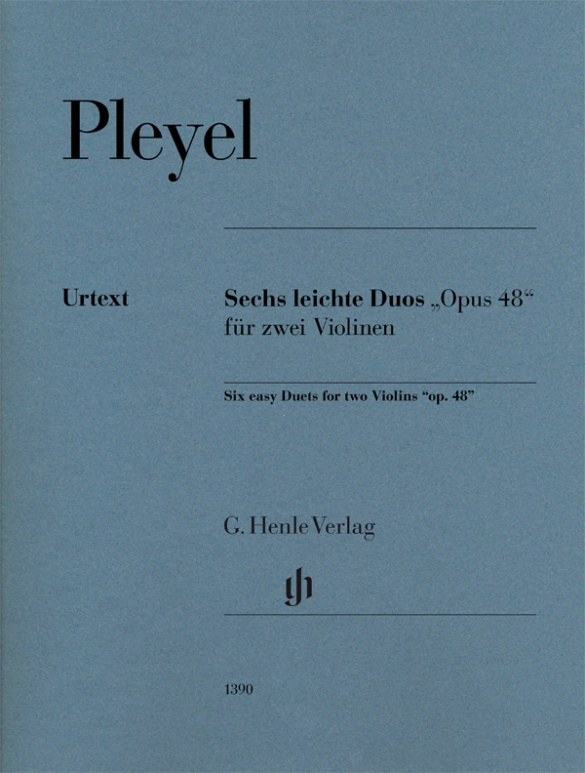 """Six easy Duets """"op. 48"""" for two Violins. Pleyel"""