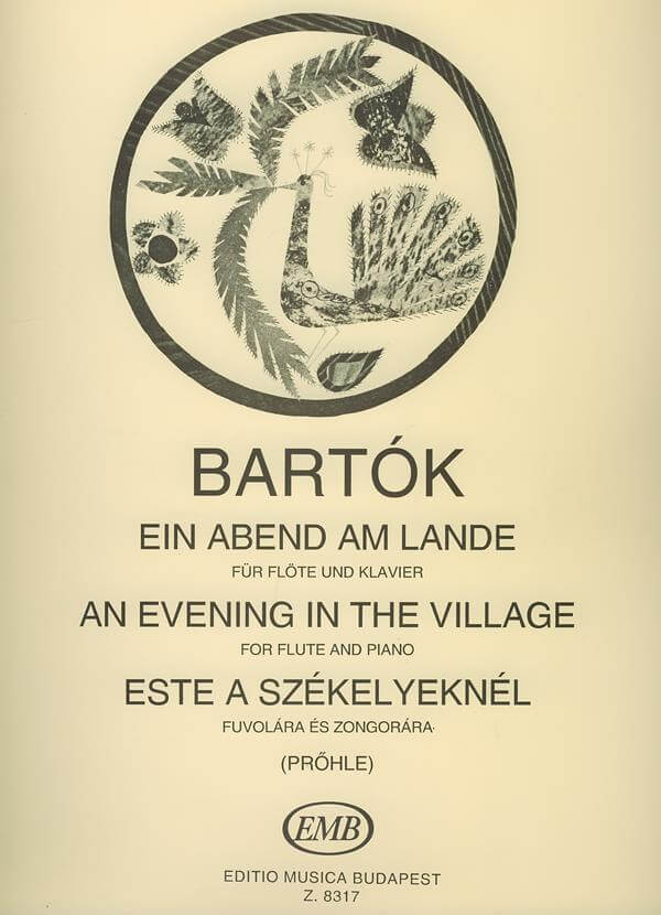 An Evening in the Village flute-piano .Bartok