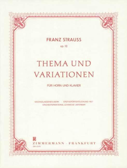 Thema & Variationen Op.13.