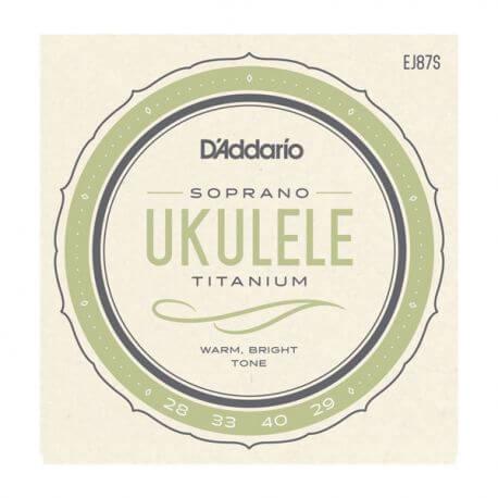 Juego de Cuerdas Ukelele Soprano D'Addario Ej87S Titanium