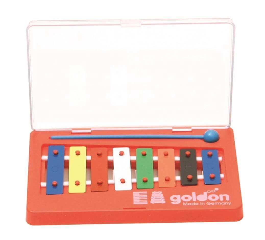 Metalofono o carillón Laminas Colores (Base Plastico)